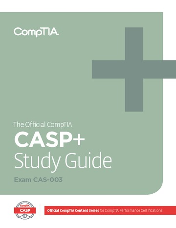 Official CompTIA Advanced Security Practitioner (CASP) Study Guide (Exam CAS-003) eBook