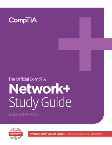 Official CompTIA Study Guide for Network+ (Exam N10-007)