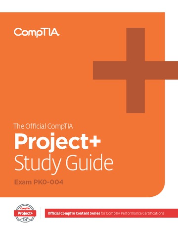 Official CompTIA Project+ Study Guide (Exam PK0-004) eBook