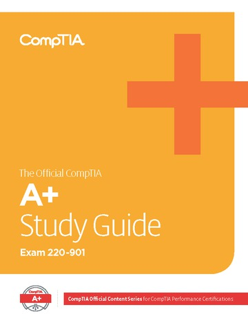 Official CompTIA Study Guide for A+ (Exam 220-901)