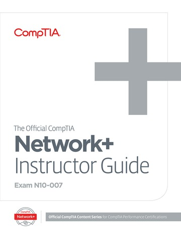 The Official CompTIA Network+ Instructor Guide (Exam N10-007)