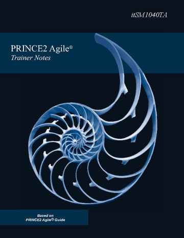 PRINCE2 Agile Practitioner Trainer Notes