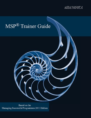 MSP Foundation/Practitioner Trainer Guide