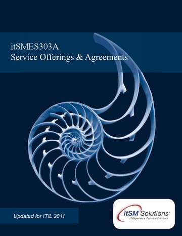 ITIL Service Offerings & Agreements (Spanish)