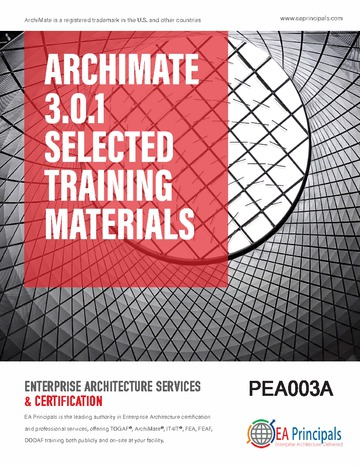 ArchiMate 3.0.1 Level 1 and Level 2 Training Course