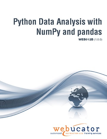 Python Data Analysis with NumPy and pandas